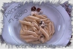 Penne in giallo