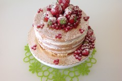 Naked cake fragole e ribes rosso