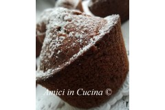 Muffin con yogurt e cioccolato fondente