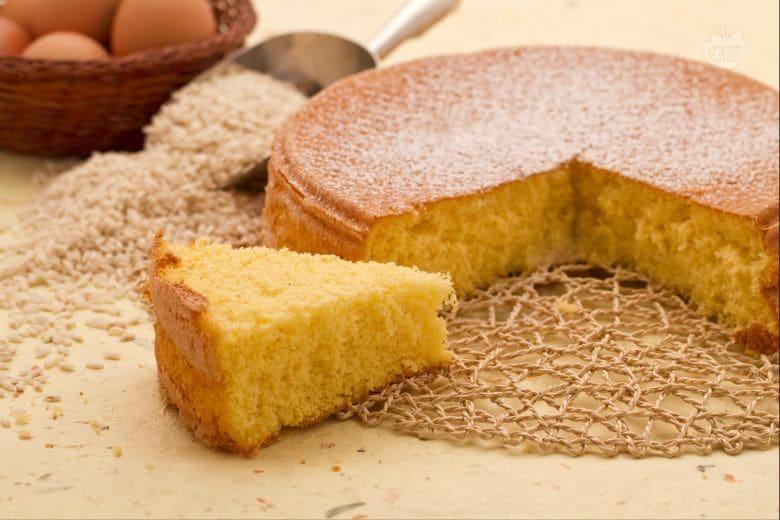 Pan di Spagna con farina di riso