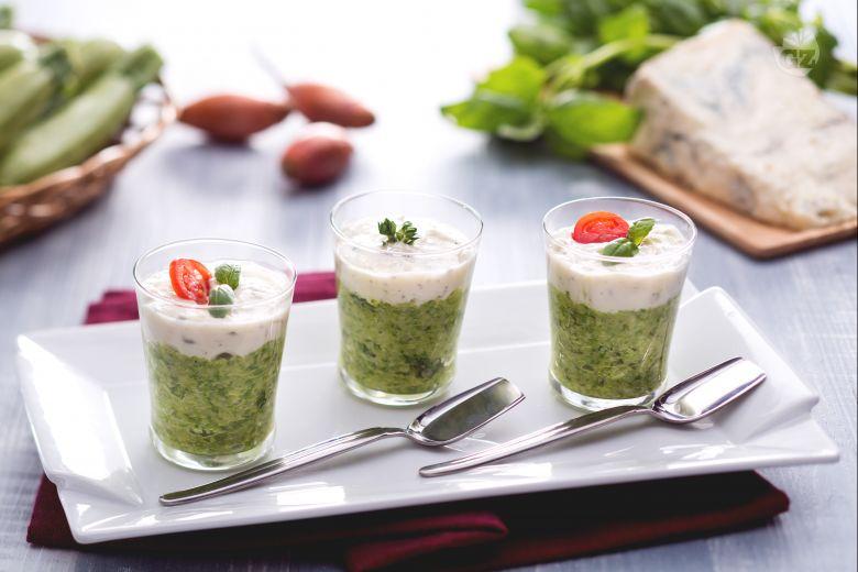 Caviale di zucchine con crema di gorgonzola