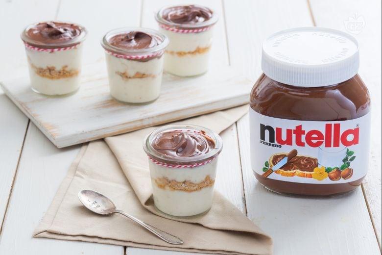 Bicchierini con crema di torrone e Nutella®