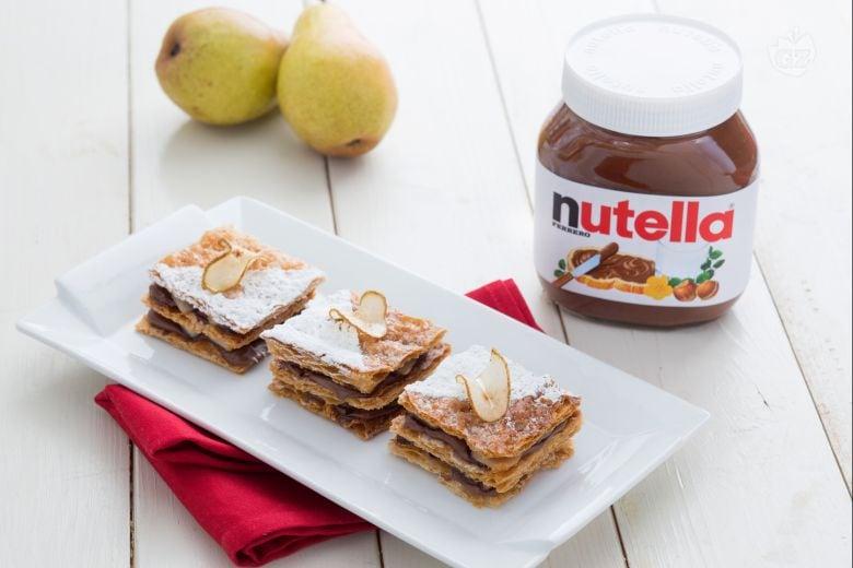 Sfogliatine di pere con Nutella®