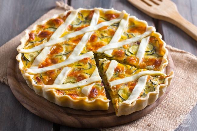 Ricetta Torta Rustica.Ricetta Torta Salata Di Zucchine La Ricetta Di Giallozafferano