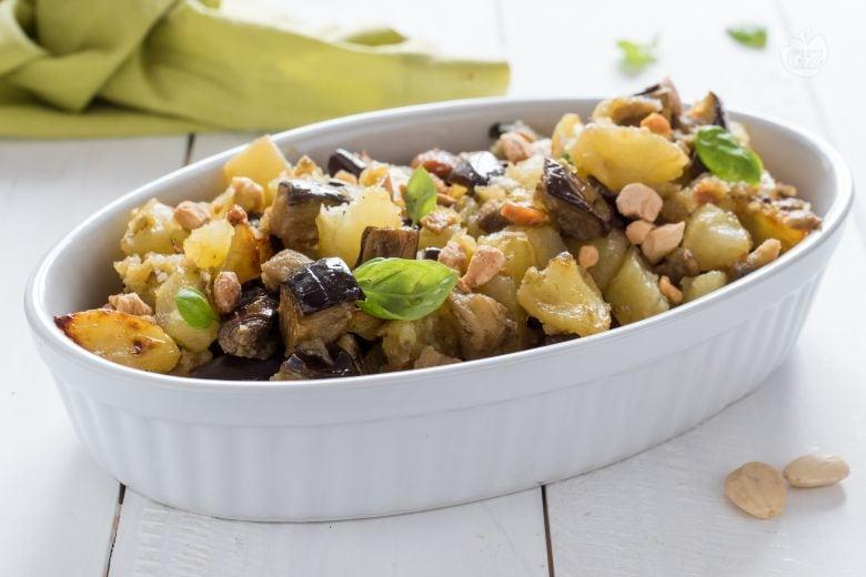 Melanzane e patate alle mandorle