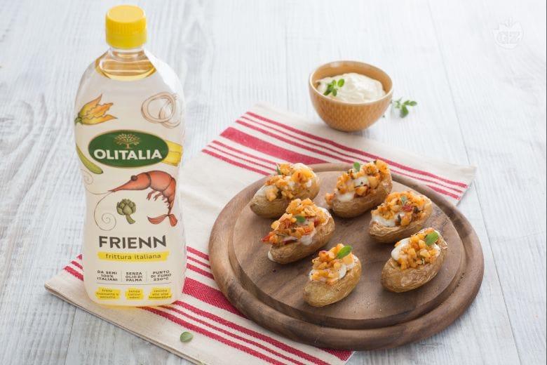 Barchette di patate e formaggio cremoso