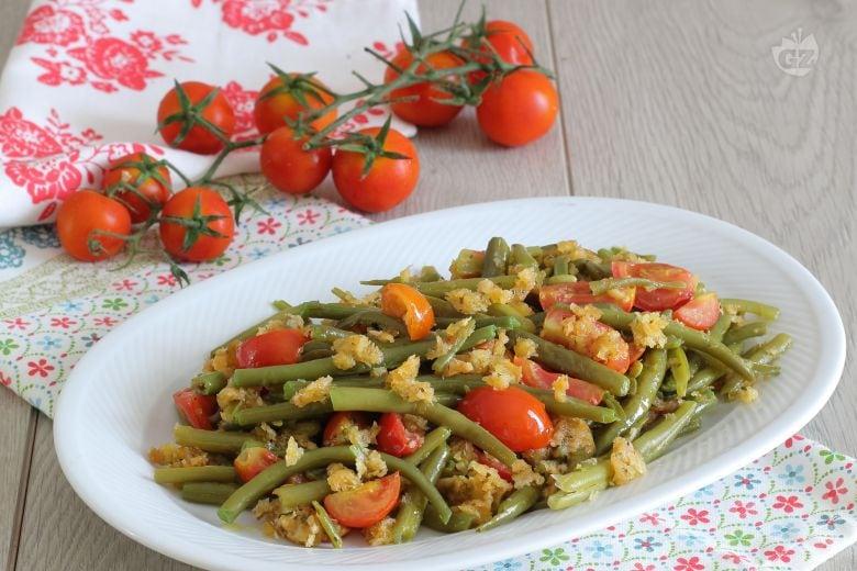 Fagiolini sabbiosi con pomodorini