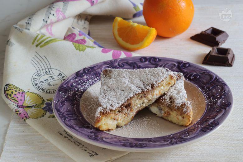 French toast con ricotta, arancia e cioccolato