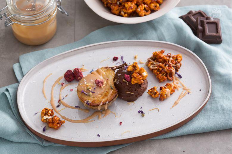 Pere e cioccolato al caramello salato