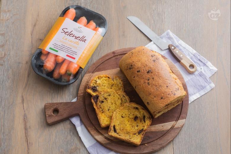 Pan brioche carote e cioccolato