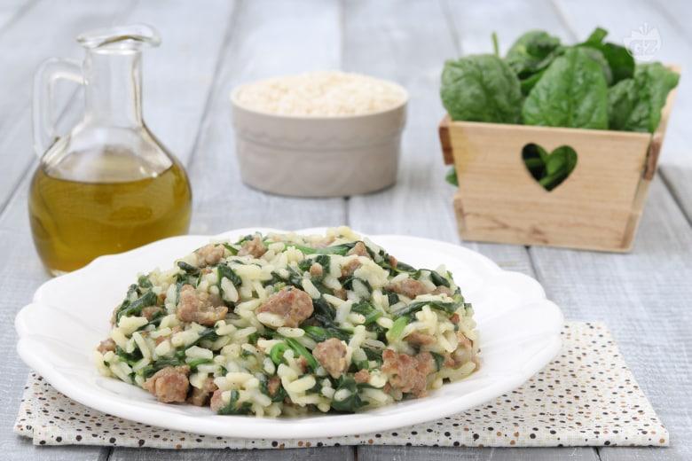 Risotto salsiccia e spinaci