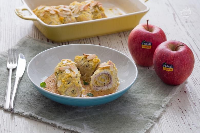 Involtini di pesce spada con salsa alle mele