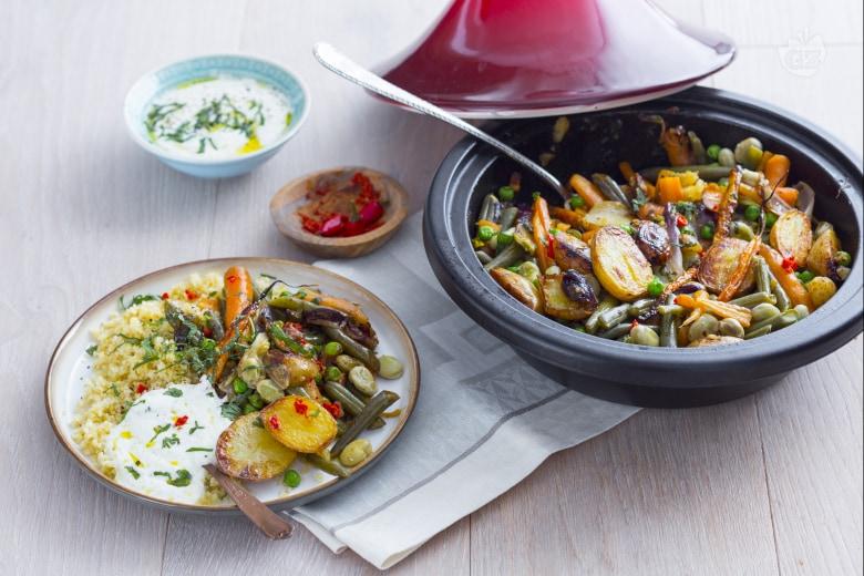 Tajine con verdure