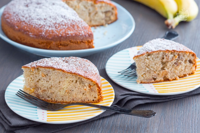Ricetta Torta Banana.Ricetta Torta Di Banane La Ricetta Di Giallozafferano