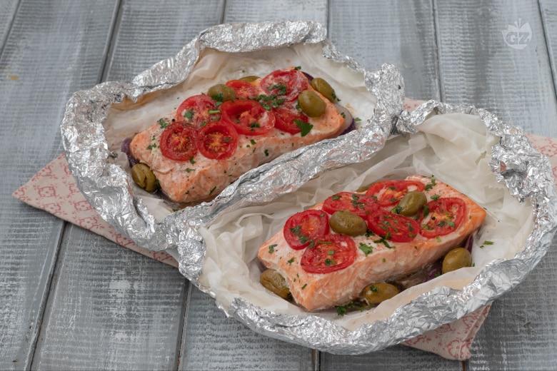 Filetti di salmone al cartoccio