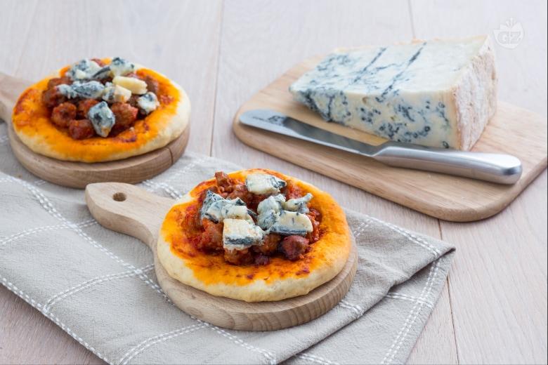 Pizzette veloci al Gorgonzola