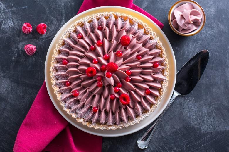 Crostata con cioccolato ruby