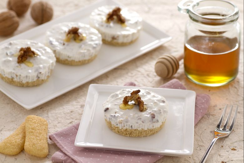 Minicake di Pavesini allo yogurt miele e noci