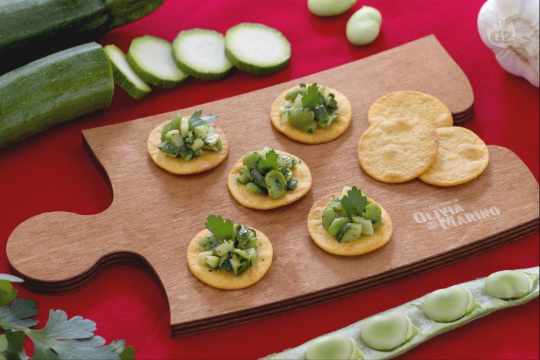 Spianatine con fave e zucchine trifolate