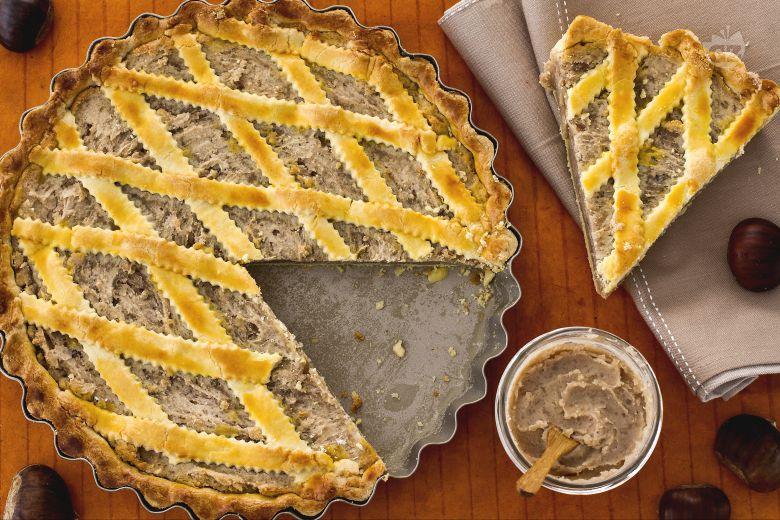 Crostata con crema di castagne