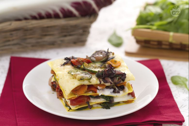 Lasagne alle verdure con crema al taleggio