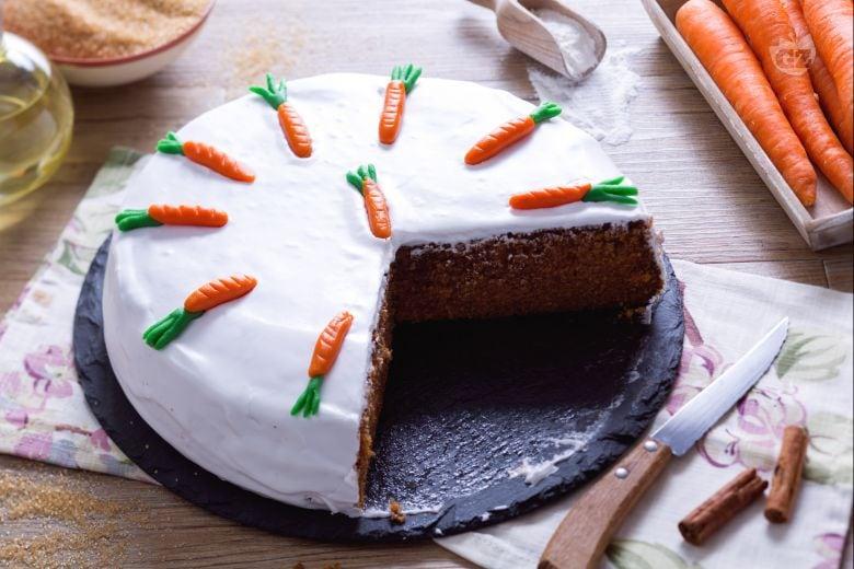 Torta di carote all'inglese o Carrot cake