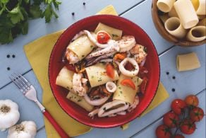 Schiaffoni (o paccheri) ai frutti di mare