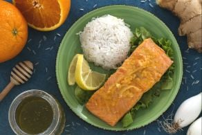 Ricetta Salmone agli agrumi con riso pilaf