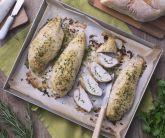 Tasche di pollo con caprino al forno