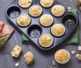 Muffins con feta e salmone