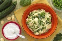 Orecchiette allo yogurt con zucchine