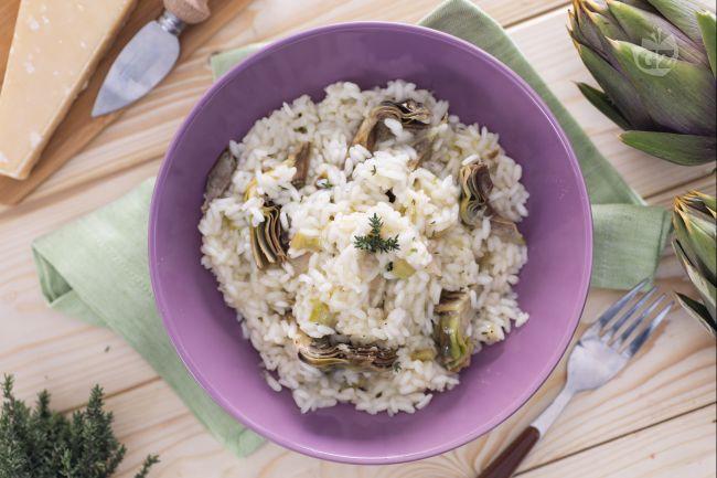Ricetta risotto ai carciofi la ricetta di giallozafferano for Ricette con carciofi