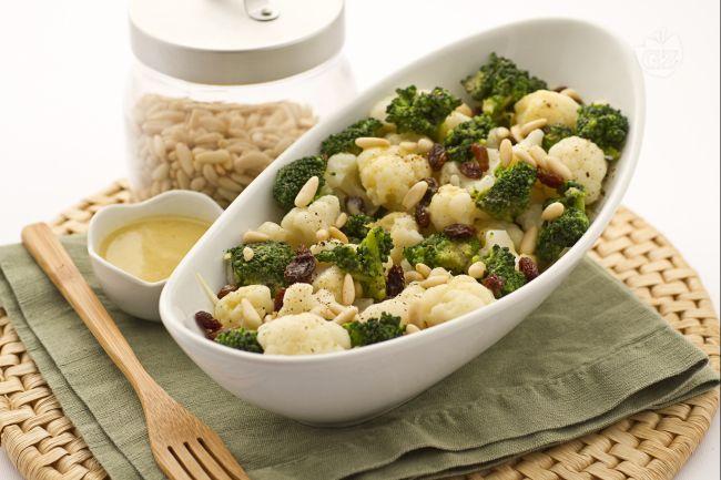 Insalata di broccoli,cavolfiori e indivia belga