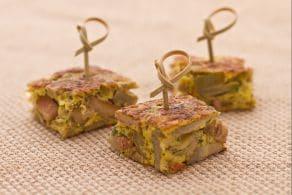 Ricetta Frittata di carciofi, funghi e pancetta affumicata