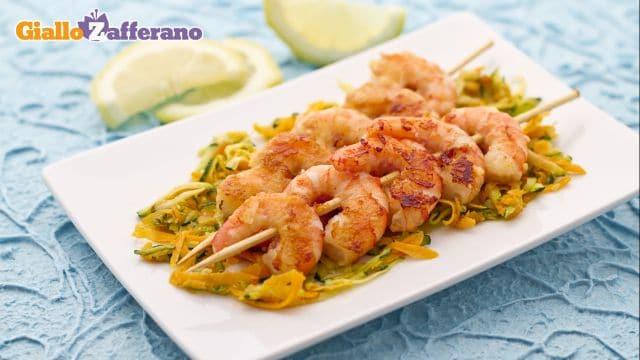 Ricetta gamberi gratinati le ricette di for Spiedini di pesce gratinati