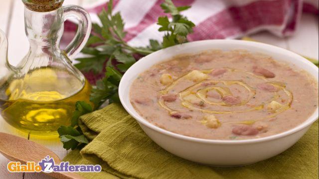 ricetta zuppa di farro e borlotti
