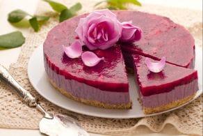 Cheesecake al profumo di rose