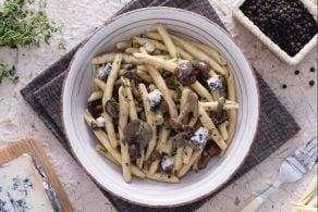 Ricetta Strozzapreti funghi e gorgonzola