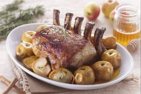 Ricetta Carrè di maiale glassato con mele