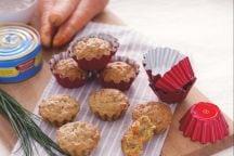 Tortini integrali con verdure e tonno