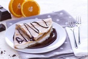 Ricetta Crepes di farina di castagne con mascarpone e ganache al cioccolato