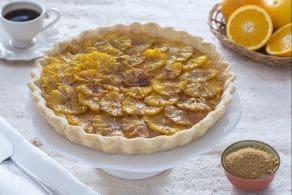 Ricetta Crostata alle arance caramellate