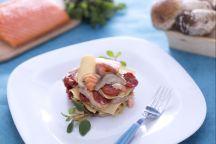 Maltagliati al salmone, porcini e pomodorini confit