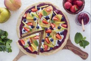 Ricetta Pizza dolce con confettura di fragole
