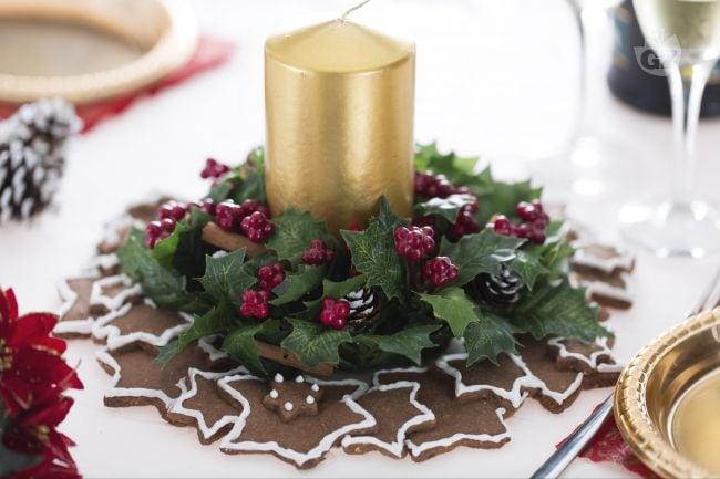 Ricetta centrotavola di stelline la ricetta di giallozafferano - Portacandele natalizi fai da te ...