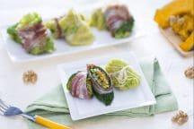 Involtini di verza ripieni di verdura