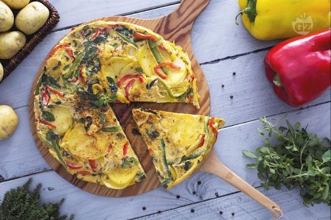 Ricetta frittata di patate e peperoni la ricetta di giallozafferano - Food network ricette a tavola con guy ...