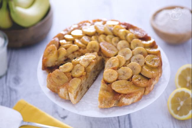 Torta rovesciata alle banane