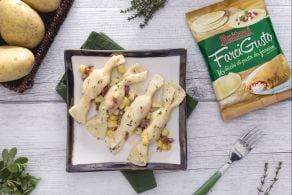 Ricetta Caramelle ripiene di patate e salsiccia alle erbe aromatiche