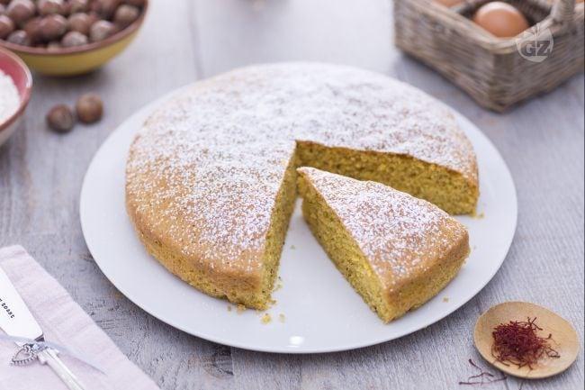 Torta allo zafferano